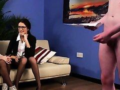 Spex UK femdoms giving jerkoffinstructions