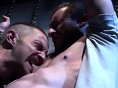 Muscle gay bound with facial