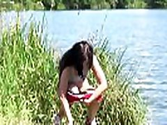 Desperate to step sister blackmail brother 20mint - European babe pulls down her shorts to relieve herself