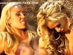 Best pornstars Mary Carey and Tyler Faith in crazy big tits, lesbian porn clip