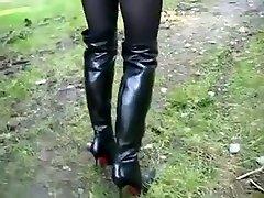 Best homemade Outdoor, High Heels sex clip