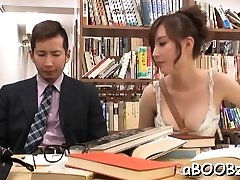 Asian sexy casting two with big milk shakes goes wild on two big cocks