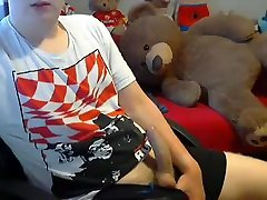 Relaxing With Ted E. Bear On Web Cam