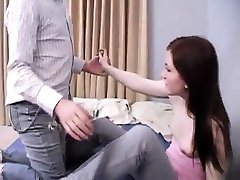 Teen babysitter dad Janine pounding an older guy