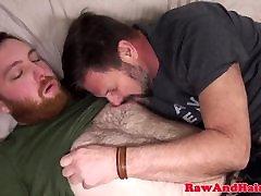 Ginger bear wank cum for dp group wedding silver daddy