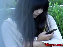 Asian babe spied rubbing