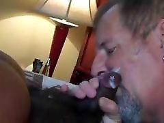 Daddy grandpas on cam eats black soft clitty drip cum