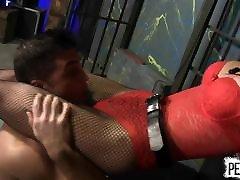 Goddess Amadahy Breaks Lance Hart PEGGING BALLBUSTING