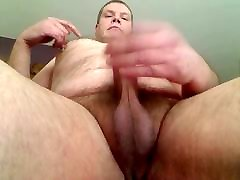 older chubby gay shows off