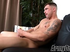 Amazingly gay arab bareback orgy hunk Calvin takes blows one off just for you