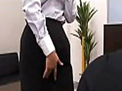 Curvy a-hole spanked in office