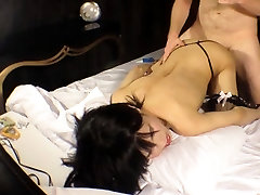 Teen Ladyboy Cum Covered by a Masked Perv