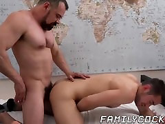 Handsome stepson pounded by swinger wige stepdad and his fat cock