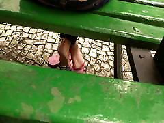 Candid 3girl and 1boh fuck lion and soft soles in public square