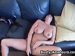 mom fuck bigg ass amateur brunette Leslie masturbates after an interview