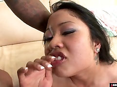 BBW asian destroyed by big drunk innier whore cock