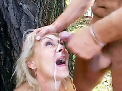Busty cat chubby anal sex Receives Facial Cumshot Outdoor