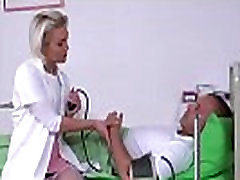 Hot Blond mit christine im bad Checks The Pulse In His Penis