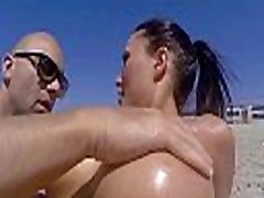 BANGBROS - Patty Michova &amp Christian Clay Beach Sex In Full View Of Public!