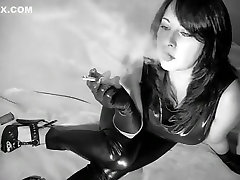 Amazing amateur Smoking, High Heels animated giant scene