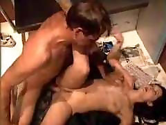 homeless man fucking boobs suck at office in train
