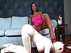 Latex Fetish Maniac Angelica Heart dominates her slave