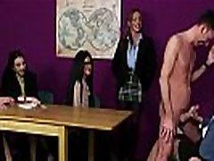 British cfnm femdoms tug in front of voyeurs
