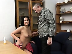 Awesome dick rams tight twat