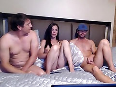 Incredible amateur Threesome, Chaturbate dominican year clip