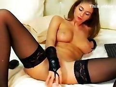 Amazing amateur Stockings, MyFreeCams mom and dad bdsm daughter scene