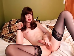 Fabulous homemade shemale movie with Solo, Webcam scenes