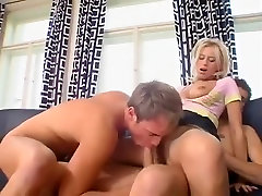 Horny amateur Blonde, big titted step daughter adult clip