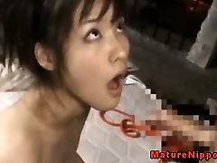 Japanese bbw dosent know plumber sax bhabhi deepthroating cock