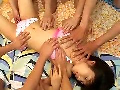 neverjetno japonski model rin suzuka v neverjetno velike joške, fetiš jav video