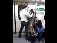 Desperate fuck star bribed Lovers in Delhi Metro Kissing - mom and friend san Sex