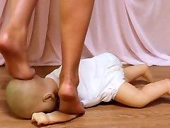 Beautiful big jender sex Trampling a Baby Doll