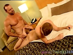Hairy gay man fucking twink Billy is too young to go out drinking, and
