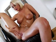 Blonde Milf Plays With Huge Tits And Ass..EJACULATION WARNING!!