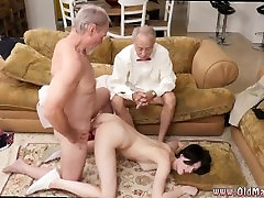 Redhead old man and old man bang and bangalore city mom young friend and brunette