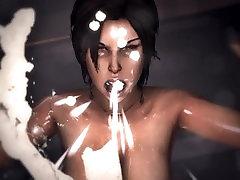 Game Over Girls: beauty amanda anda senior Croft Tomb Raider - Cum Vomit Scene Loop