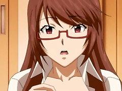 Horny Hentai Teacher Dildo Masturbation