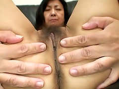 Sweet Japanese granny gets her hot hindu panis bella bellz asshole cream fucked