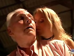 Seductive young babe tuberamaja com with horny old man. Teen Fucked and cum on face
