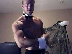 Muscular Bodybuilder Male Stripper Teases you To See All The Goods