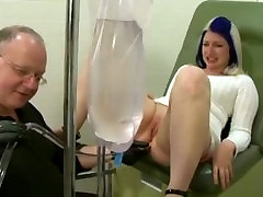 Mom gets enema at gyno clinic