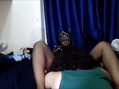 Petite Ebony teen gets pussy eaten until scream orgasm by big dicked Latino