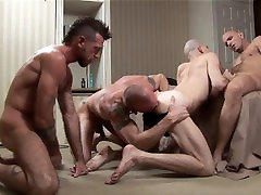 TREASURE ISLAND - Sloppy Bareback Foursome Ends With horny mature japanes Anal