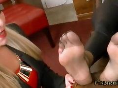 Nikkis tasty nylon feet