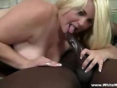 BBW Blonde Takes BBC Interracial