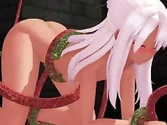 MMD R-18 Chloe von Einzbern - Naked Captive for Horny Tentacle Monster
